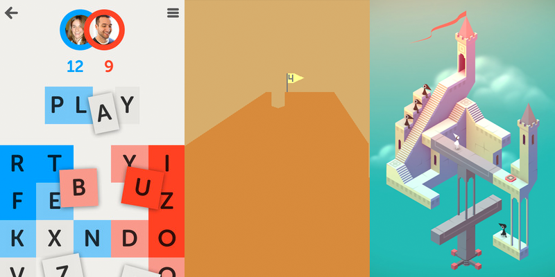 letterpress, desert golfing & monument valley