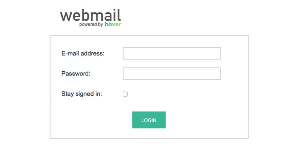 new webmail screenshot
