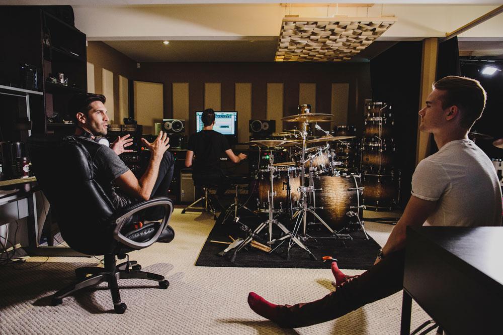 180 Drums editing studio