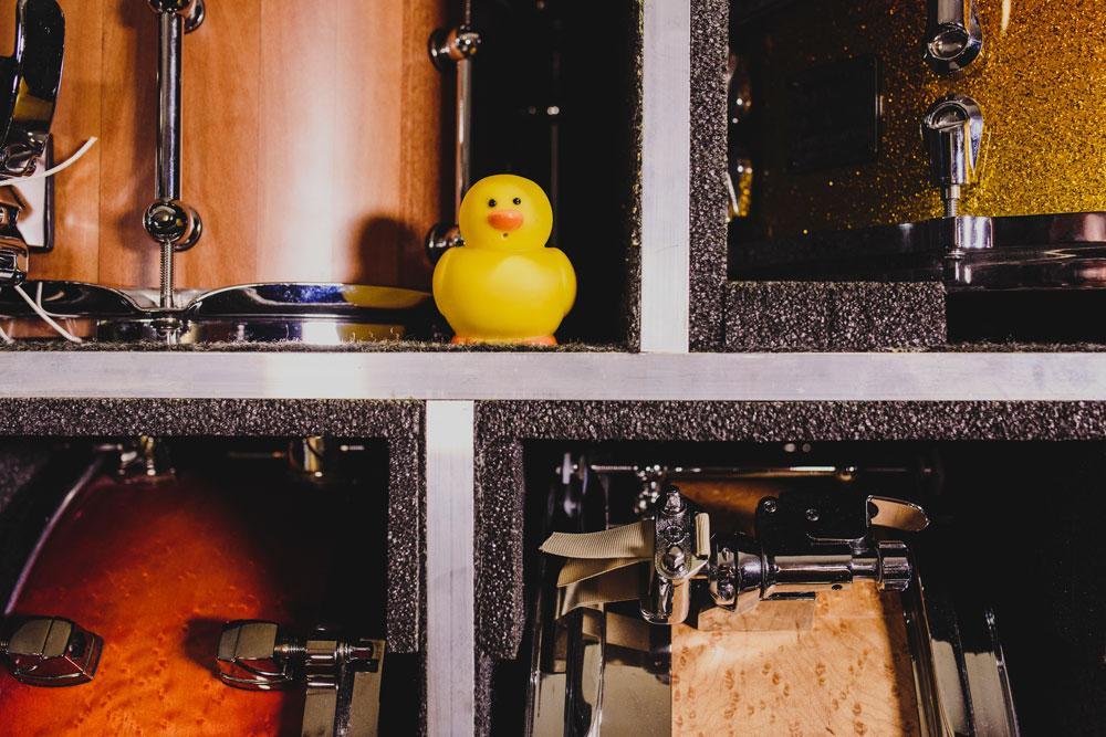Closeup shot of snare drums