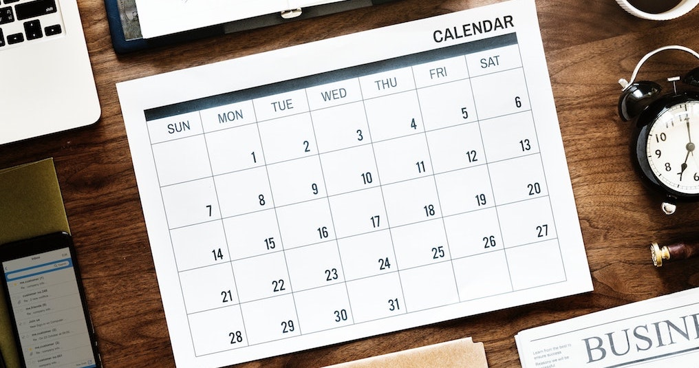 calendar today domain - a calendar on a desktop
