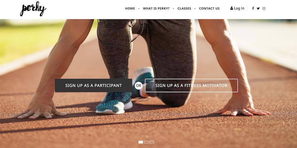 perky athletics app website