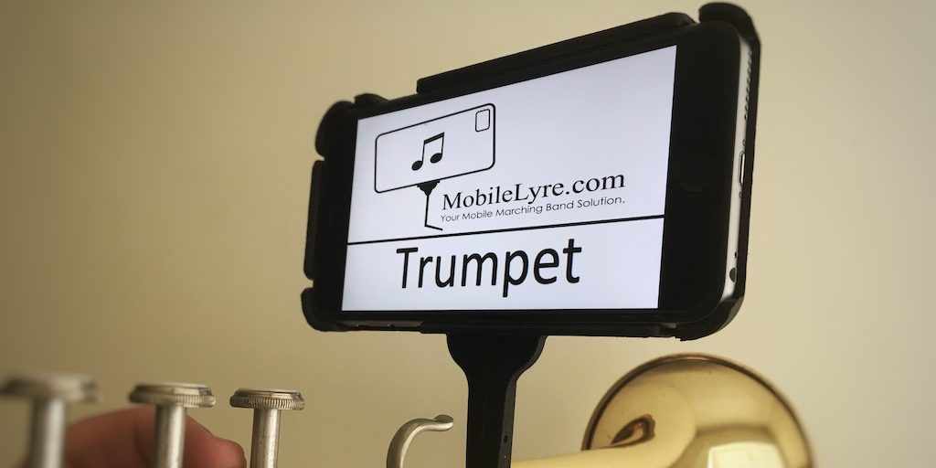 music lyre on a phone