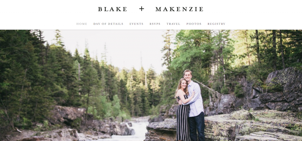 A wedding domain for Blake and Makenzie.