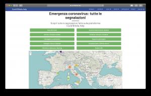 A screenshot of covid19italia.help
