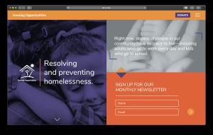 A screenshot of Housing Opportunities' website