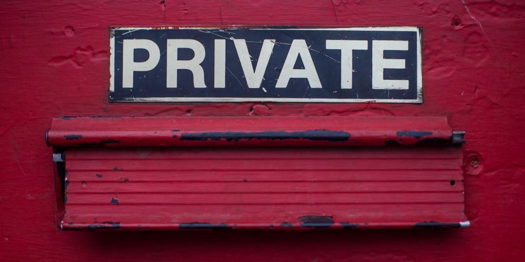 WHOIS privacy and what it means to you - a red door with a private sign